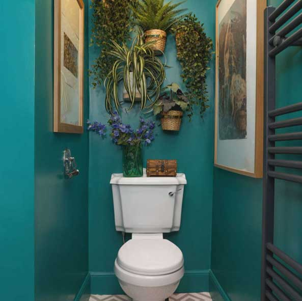 گل و گیاه در دستشویی