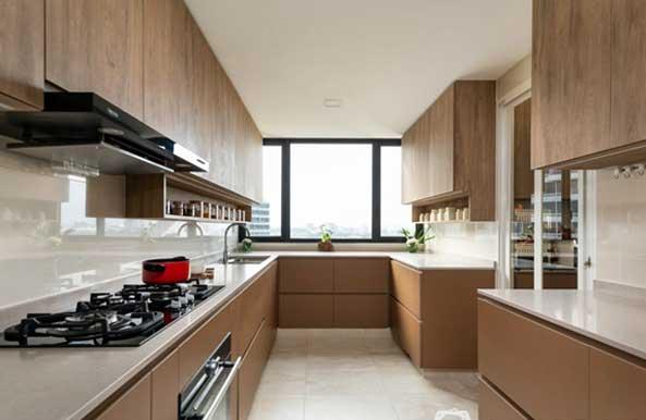 طراحی آشپزخانه بسته