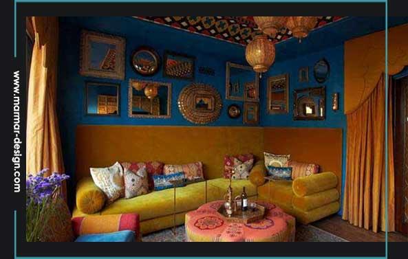 رنگها در معماری مراکشی