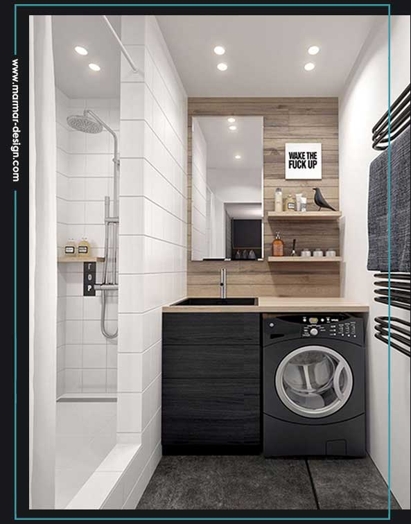 اتاق لباسشویی نزدیک حمام