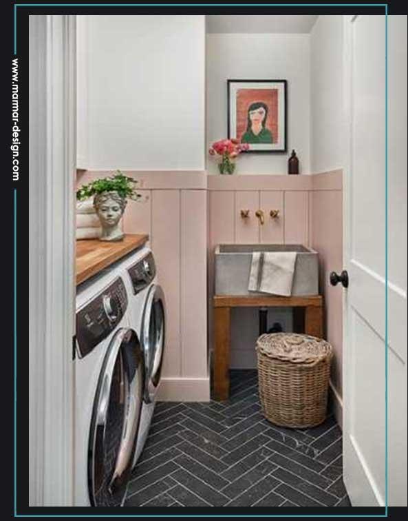 ایده کف اتاق لباسشویی